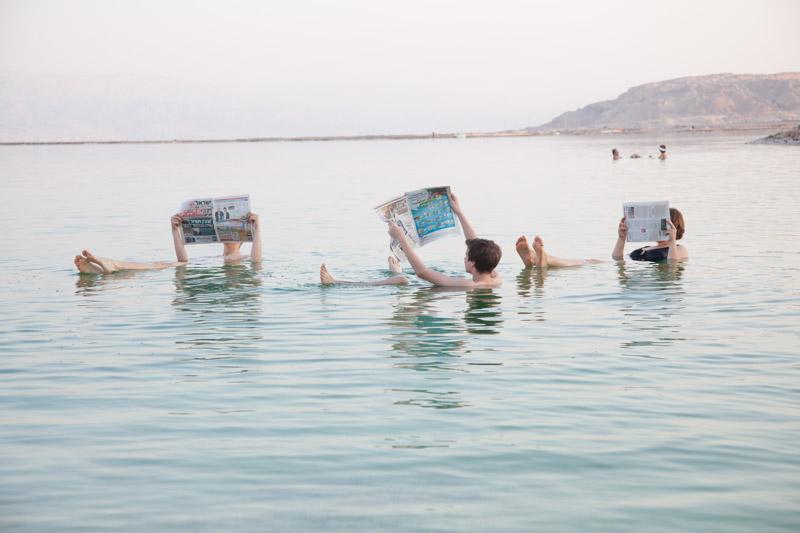 Klassisches Bild am Toten Meer