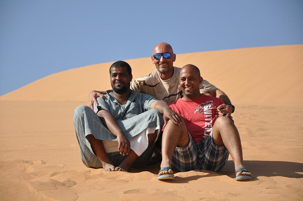 Teil des Teams auf der Oman Reise