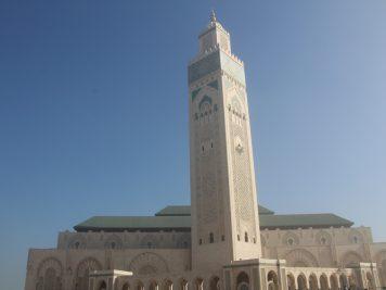 Marokko Rundreise Reise in 1001Nacht An der Hassan II. Moschee in Casablanca, Marokko Rundreise