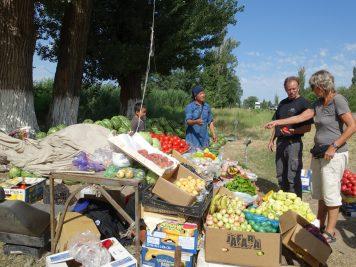 Gemüse Obst Straßenrand Verkaufsstand