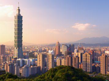 Hochhaus Wolkenkratzer Stadtansicht Taipeh