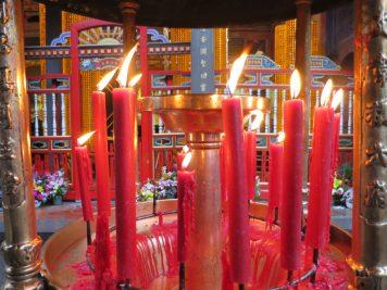 Tempel Taipeh Kerzen