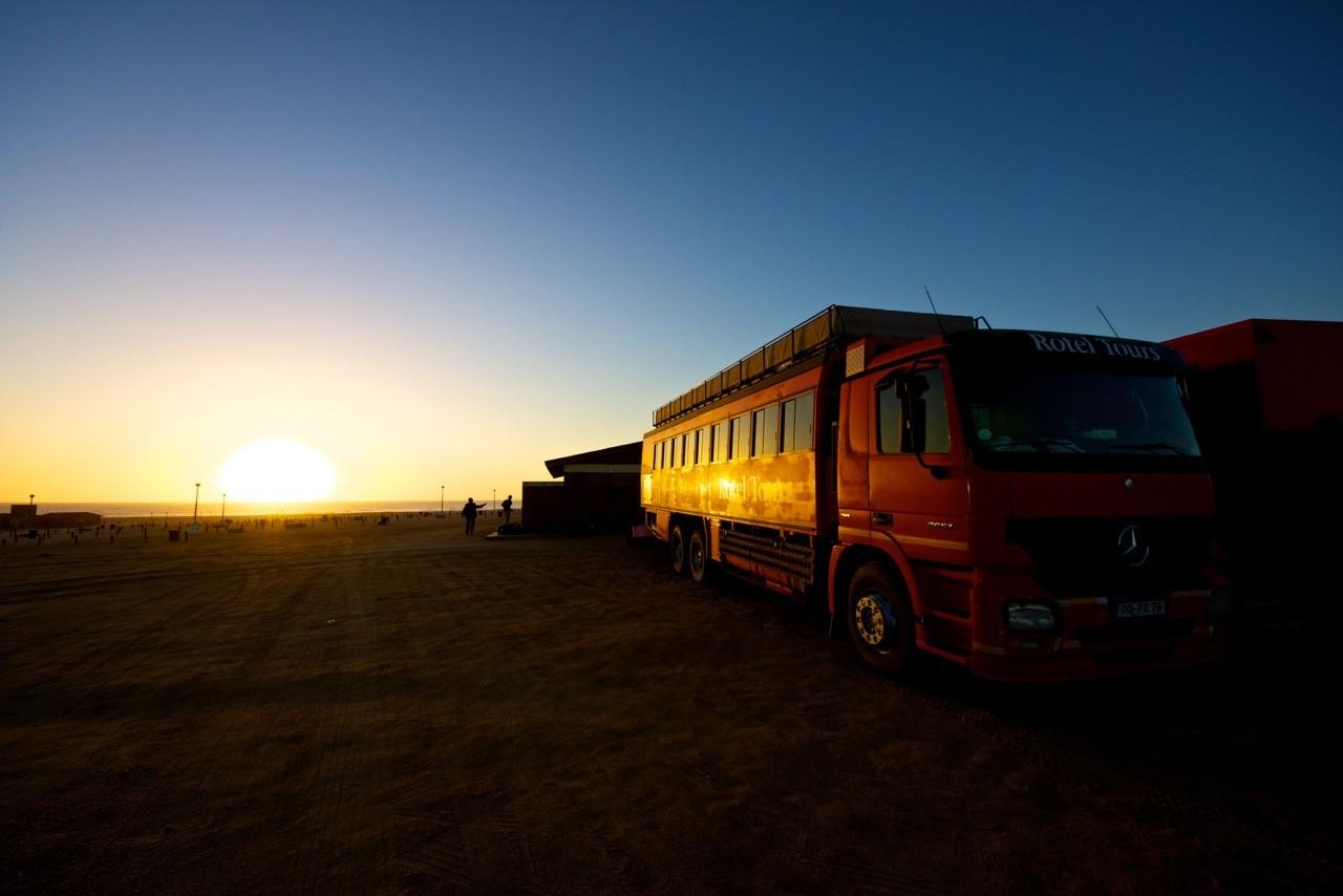 Namibia, Rundreise, Wandern, Rotel Tours, Abendrot, Camping